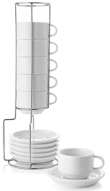 Sweese porcelain stackable cups